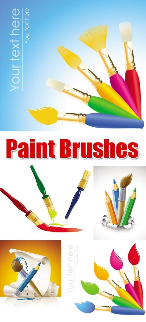 Vector brush painting