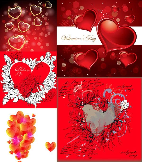 Romantic heart-shaped - Vector