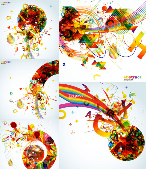 The trend of colorful graphics - Vector