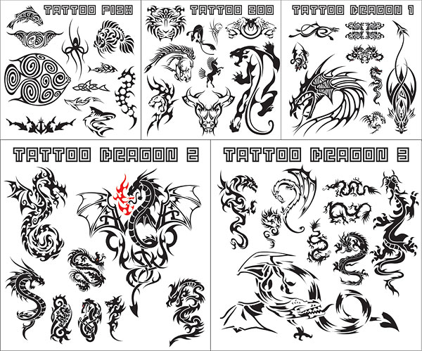 Variety of animal totem vector material