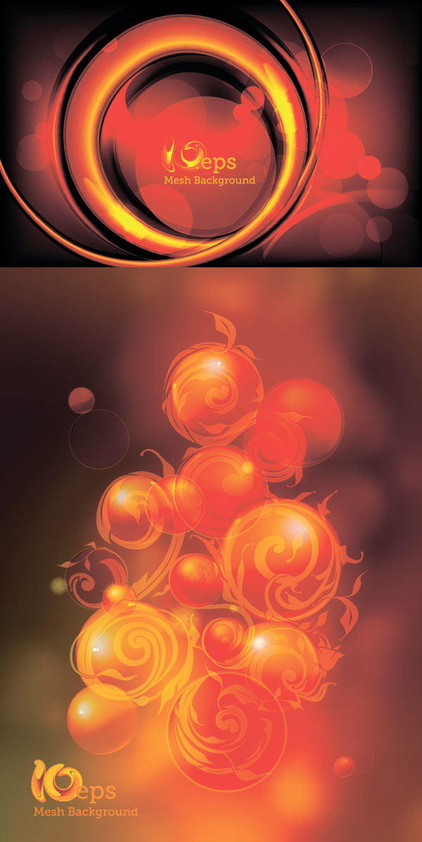 Flaming Sphere Background Vector