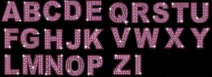 Diamond English and digital vector material (pink purple)