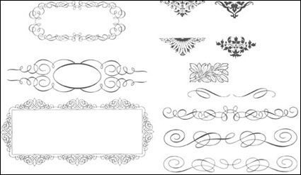 Succinct lace trimming vector source material