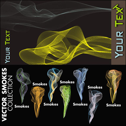 Colorful line smoke vector of material