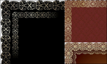 Europe type figure lace vector of material