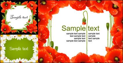 Flower border vector of material