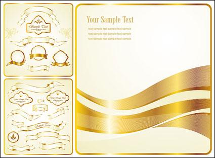 Vector Golden Ribbon label