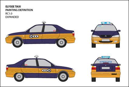 View original vector Jetta IV taxi