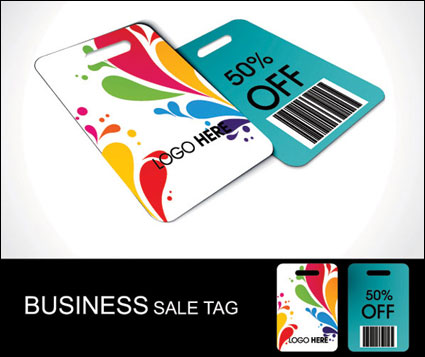 Discount sales label vector material