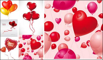 Romantic heart-shaped balloons Vector