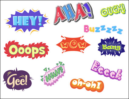 {variety of graffiti Text} Vector