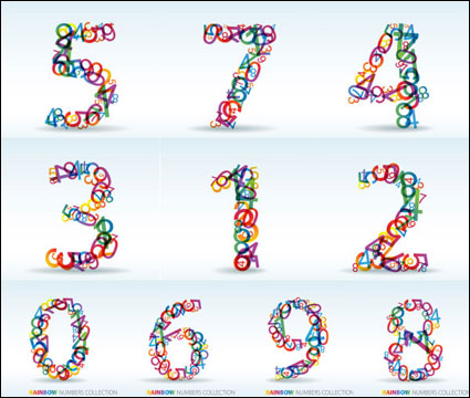 Numbers of digital vector material