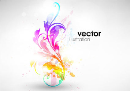 Symphony fashion pattern vector material -3