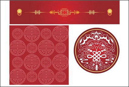 Chinese style pattern vector