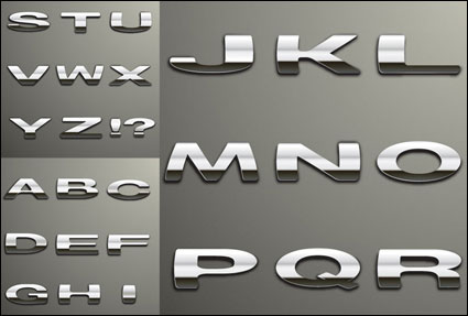 Silver metal words vector
