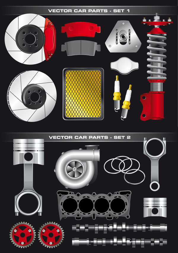 Auto Parts vector material