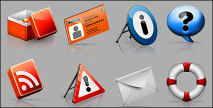 Life buoy, email, gear, passes, box png icon