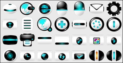 Blue high-tech computer material PNG Icon