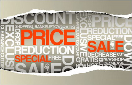 Paper tear sale, price vector