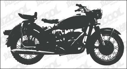 Motorcycle silhouettes vector material