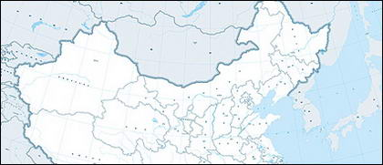 1:400 million Chinese map (Administrative Region)