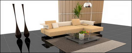 Fashion living room View picture material