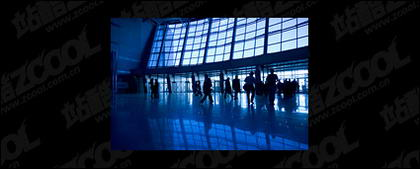 Airport hall picture material