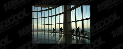 Airport hall picture material-2