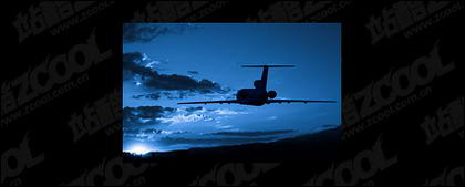 Flying aircraft picture material-2