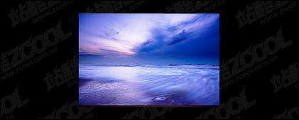 The sea at dusk picture material-4