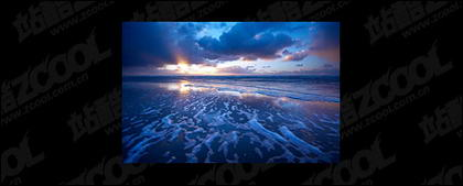 The sea at dusk picture material-5