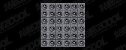 Speaker tiled background picture material