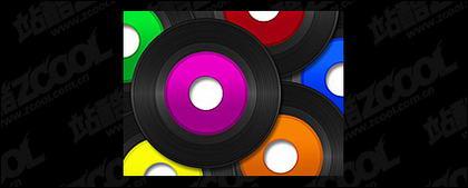 Color picture disc vinyl material
