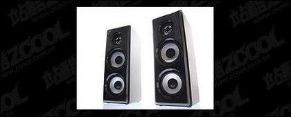 One pair of speakers picture material