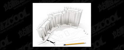 3D buildings and the floor plan -6