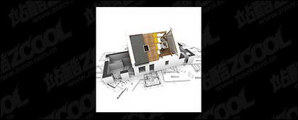 3D buildings and the floor plan -9