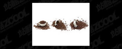 Coffee beans picture material-2