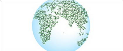 Water vector map of the Earth-2