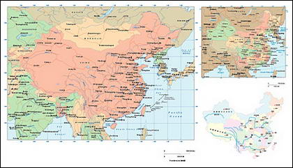 China vector map
