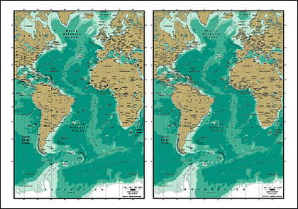 Vector map of the world exquisite material - Atlantic map
