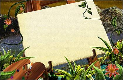 Green rattan plants    Sketchpad
