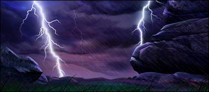 Lightning countryside