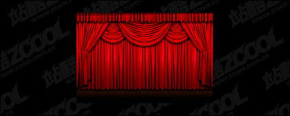 Red curtain picture quality material