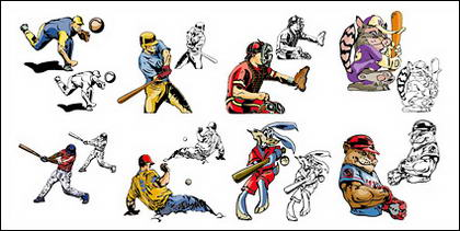 Comic style baseball