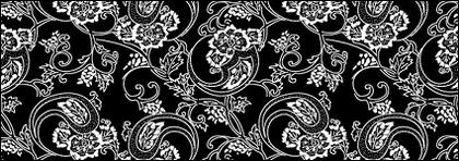 Vector traditional tiled background material-6