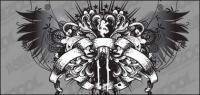 Matériau de vecteur de patron des ailes classique de style européen