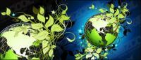 Gr�n Leaf Material Vektor der Erde