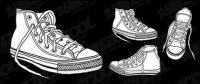 Vektor-Schuhe-material