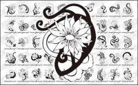 Flower patterns vector Totem material-2
