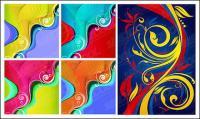 material de diseño de color tendencia patrón vectores